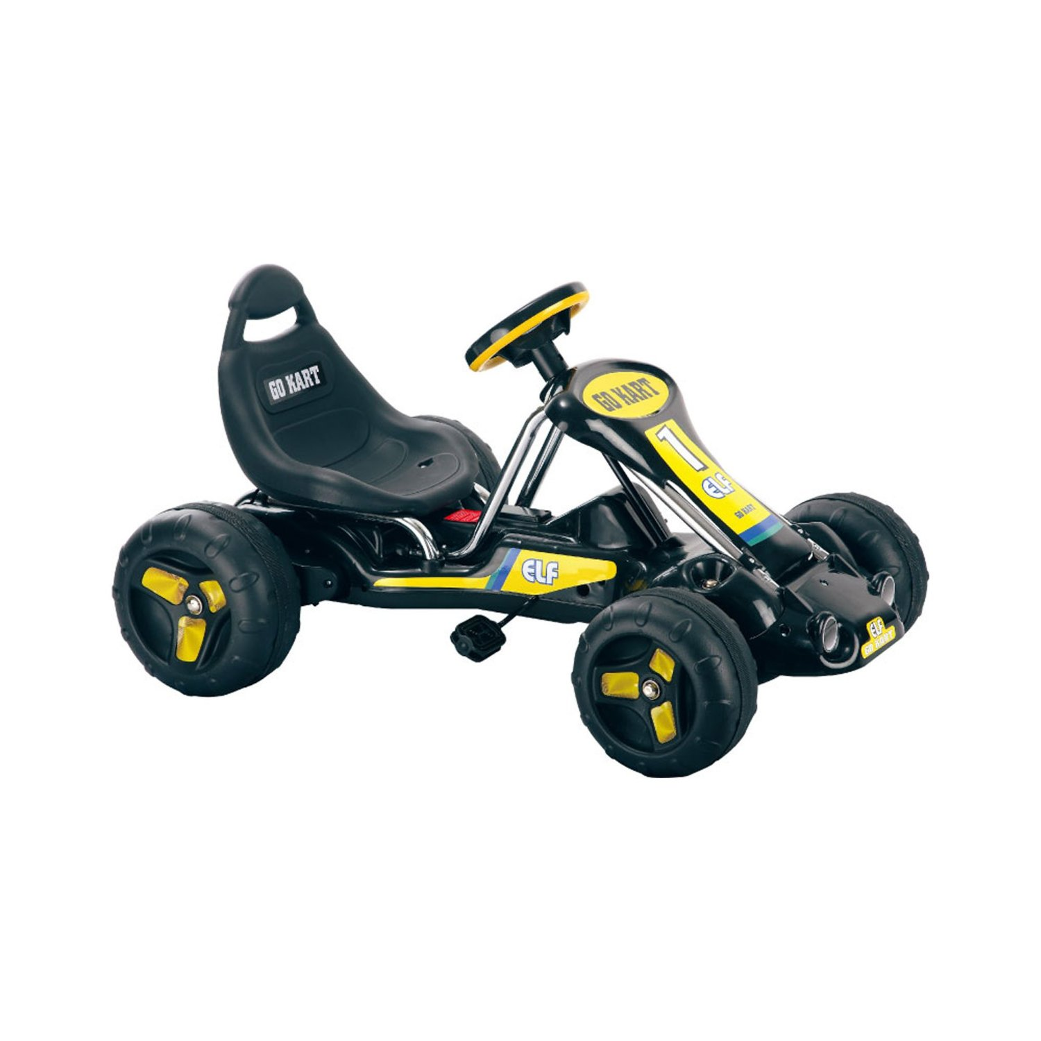 Lil Rider Black Stealth Pedal Powered Go-Kart